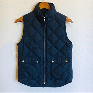 J.Crew Navy Quilted Puffer Vest